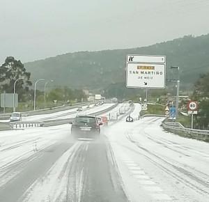 Snow in Galicia!